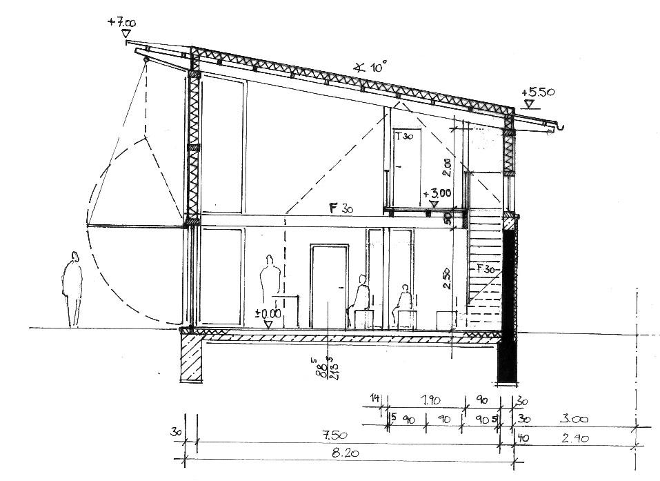 Holzskelettbau detail  Landeskirchliche Gemeinschaft Langenfeld - NOESSER-PADBERG Architekten